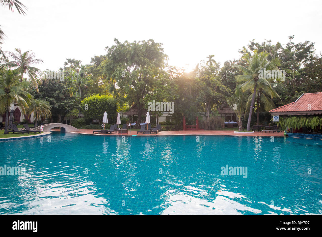 Siem Reap, Angkor, Hotel Sofitel, Pool Stock Photo