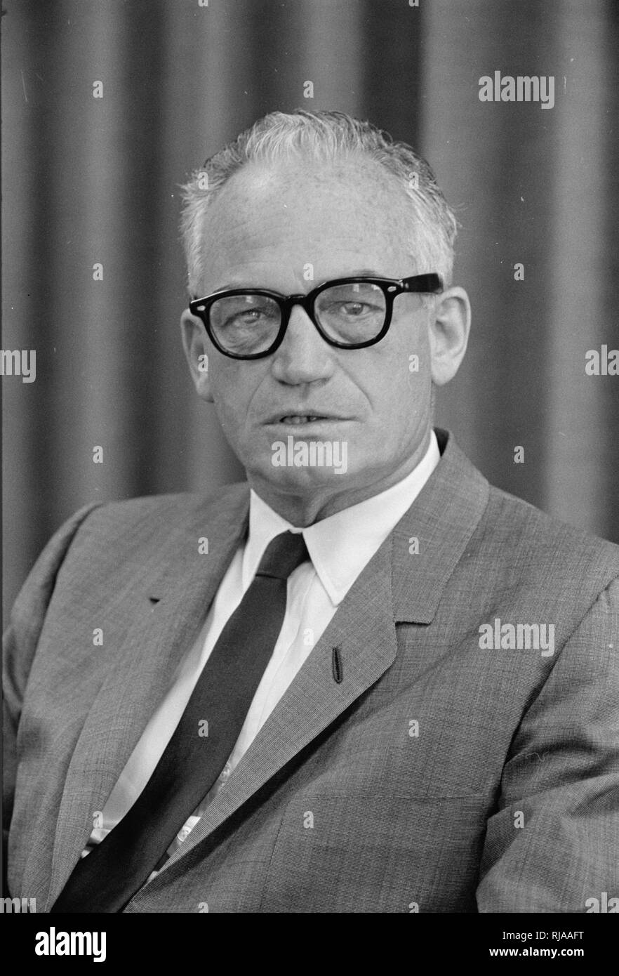 Barry Goldwater (1909 – 1998), American politician, businessman, and author. five-term United States Senator from Arizona (1953–65, 1969–87) and the Republican Party's nominee for President of the United States in the 1964 election - Stock Image