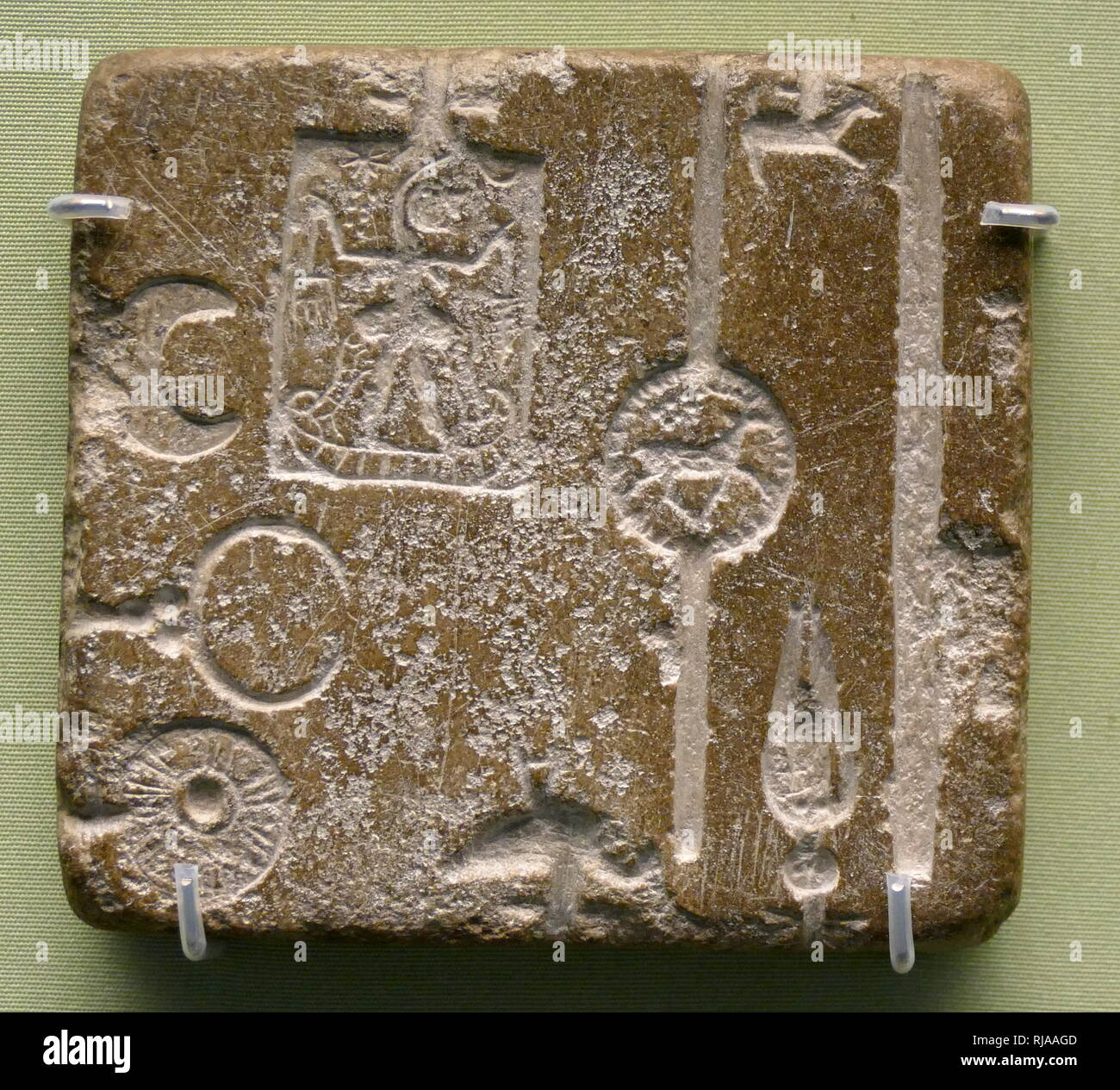 Antiquities Symbol Of The Brand Near Eastern Iron Age Levantine A Clay Amulet With Design