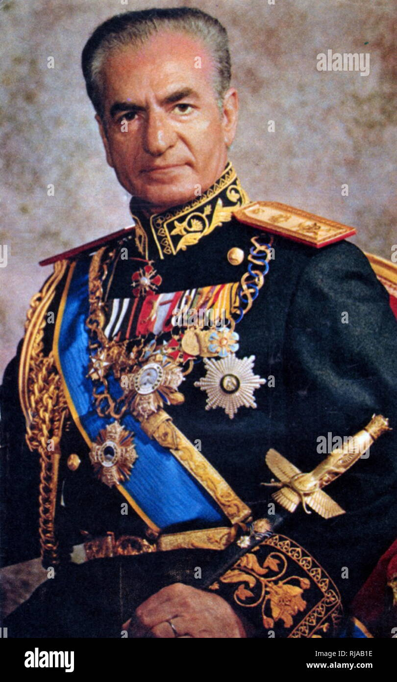 Mohammad Reza Pahlavi (1919 – 1980), Mohammad Reza Shah; last Shah of Iran from 16 September 1941 until his overthrow by the Iranian Revolution on 11 February 1979. - Stock Image