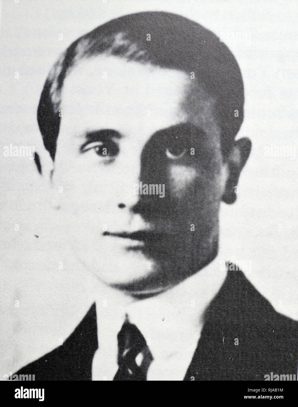 Prince Felix Yusupov, (1887 – 1967), Russian aristocrat known for participating in the assassination of Grigori Rasputin - Stock Image
