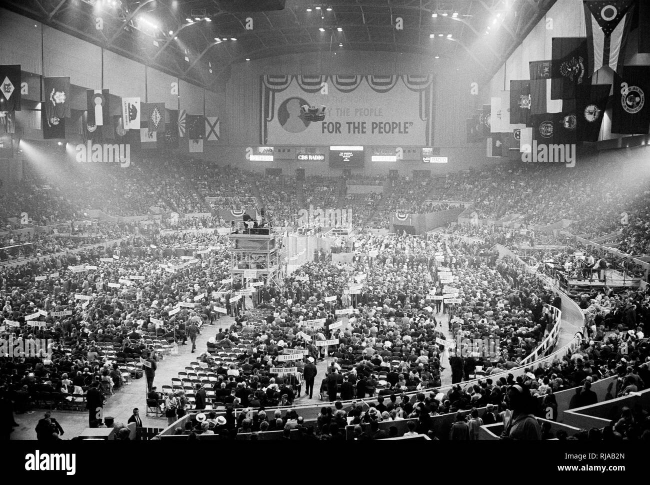 Governor Mark Hatfield Appears Before The Convention In Cow Palace 1964