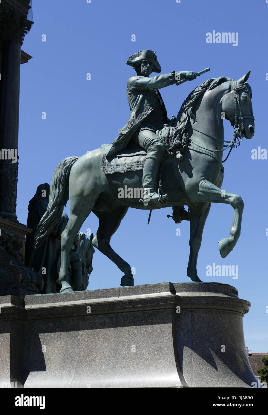 Statue in Maria-Theresien-Platz, Vienna, Austria. Maria Theresa (1717-1780), was the only female ruler of the Habsburg dominions and the last of the House of Habsburg. - Stock Image