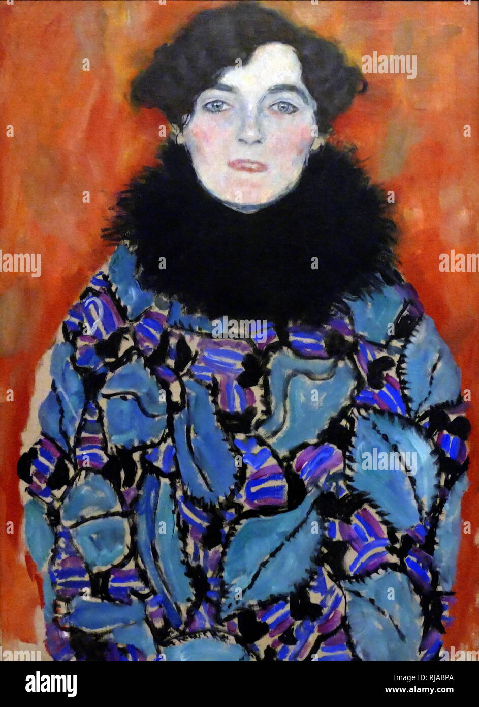 Portrait of Johanna Staude; 1917 - 1918. by Gustav Klimt. Art Nouveau portrait - Stock Image