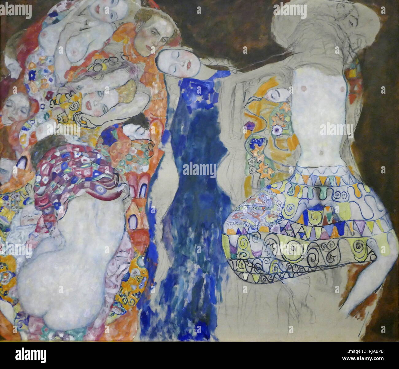The Bride (unfinished), painting by Gustav Klimt. 1917 - 1918; Art Nouveau; allegorical painting. oil on canvas - Stock Image