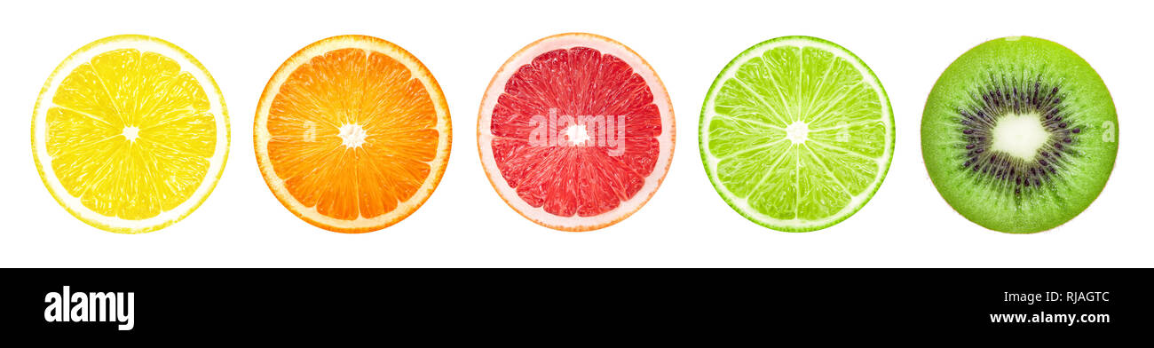 Fruit slices banner - Stock Image