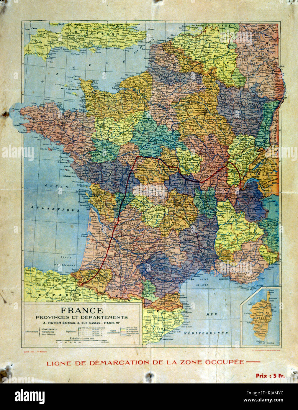 Map Of France 1940.France 1940 Map Stock Photos France 1940 Map Stock Images Alamy