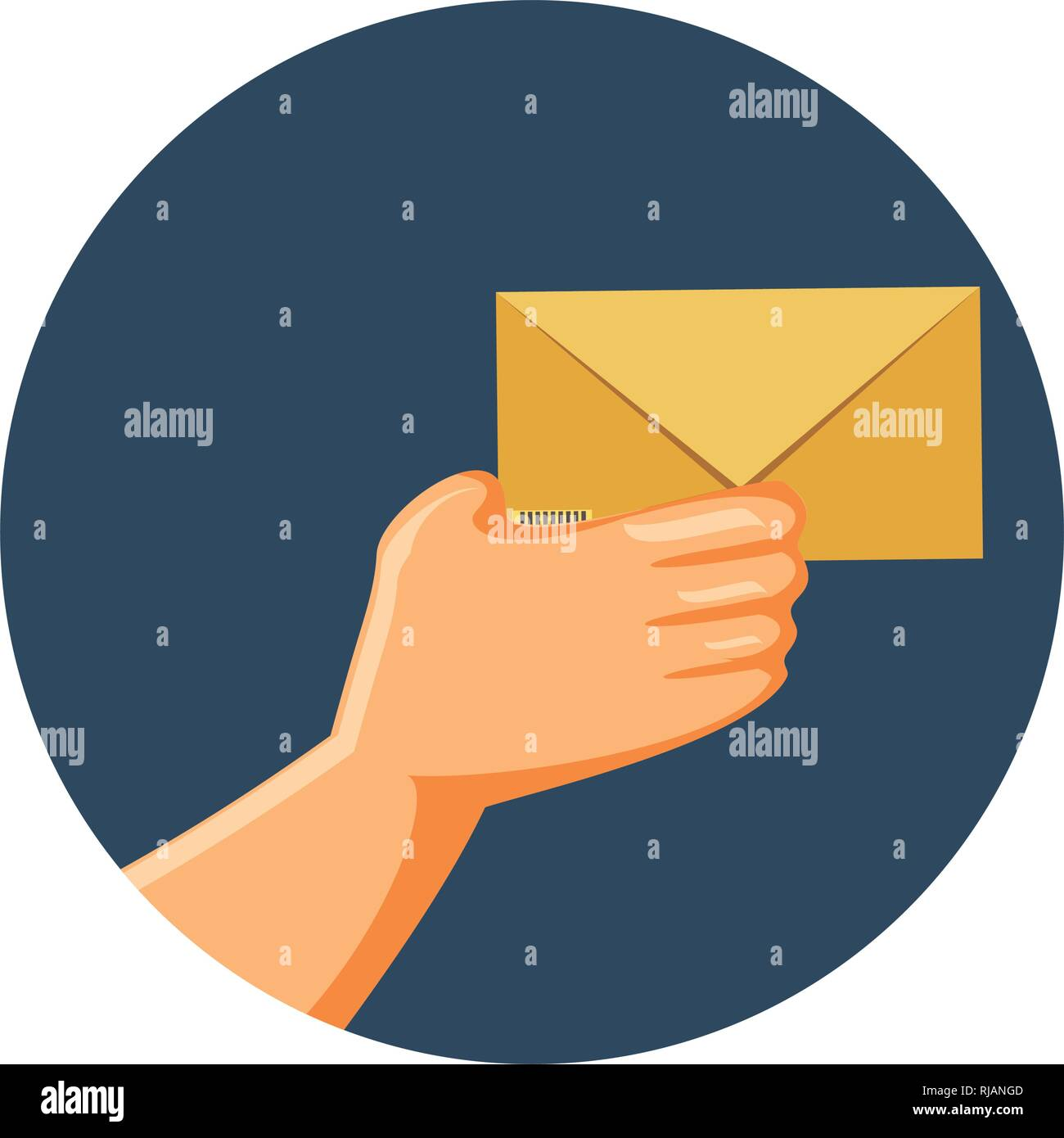 envelope mail isolated icon vector illustration design - Stock Vector