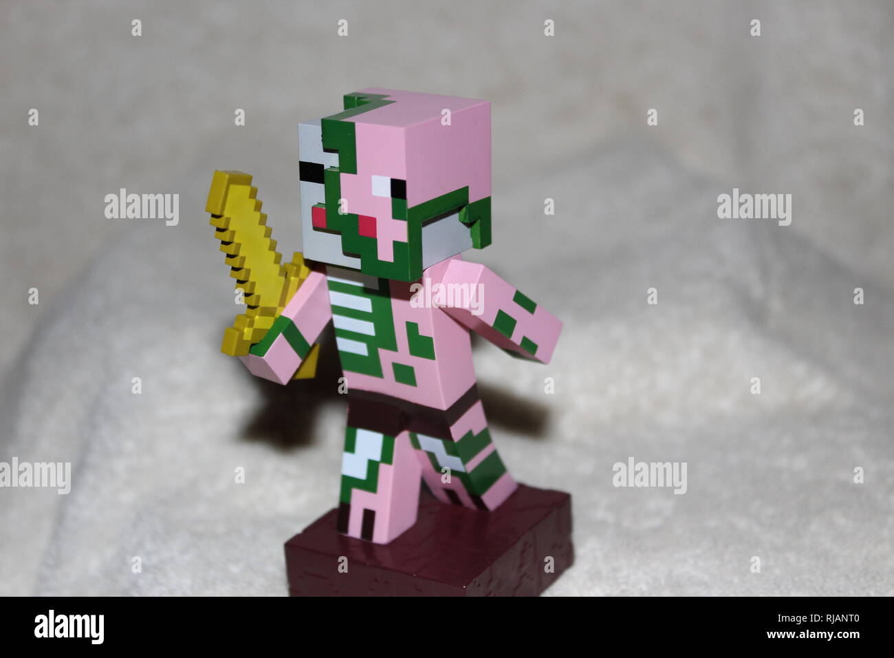 Minecraft Toy Character Still Life - Stock Image