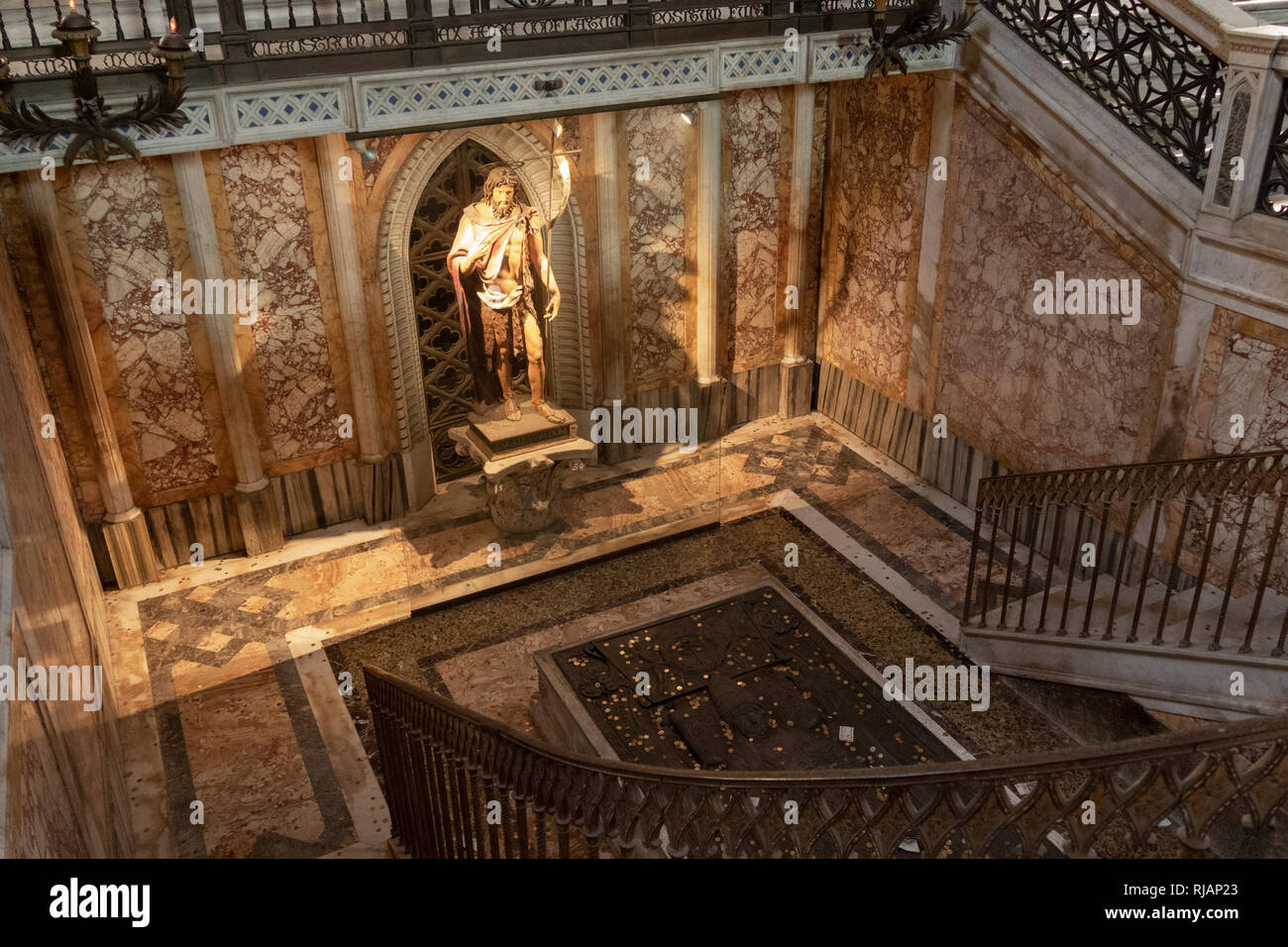 Saint John the Baptist at the Archbasilica of St. John Lateran, Cathedral of the Most Holy Savior and of Saints John the Baptist and the Evangelist in Stock Photo