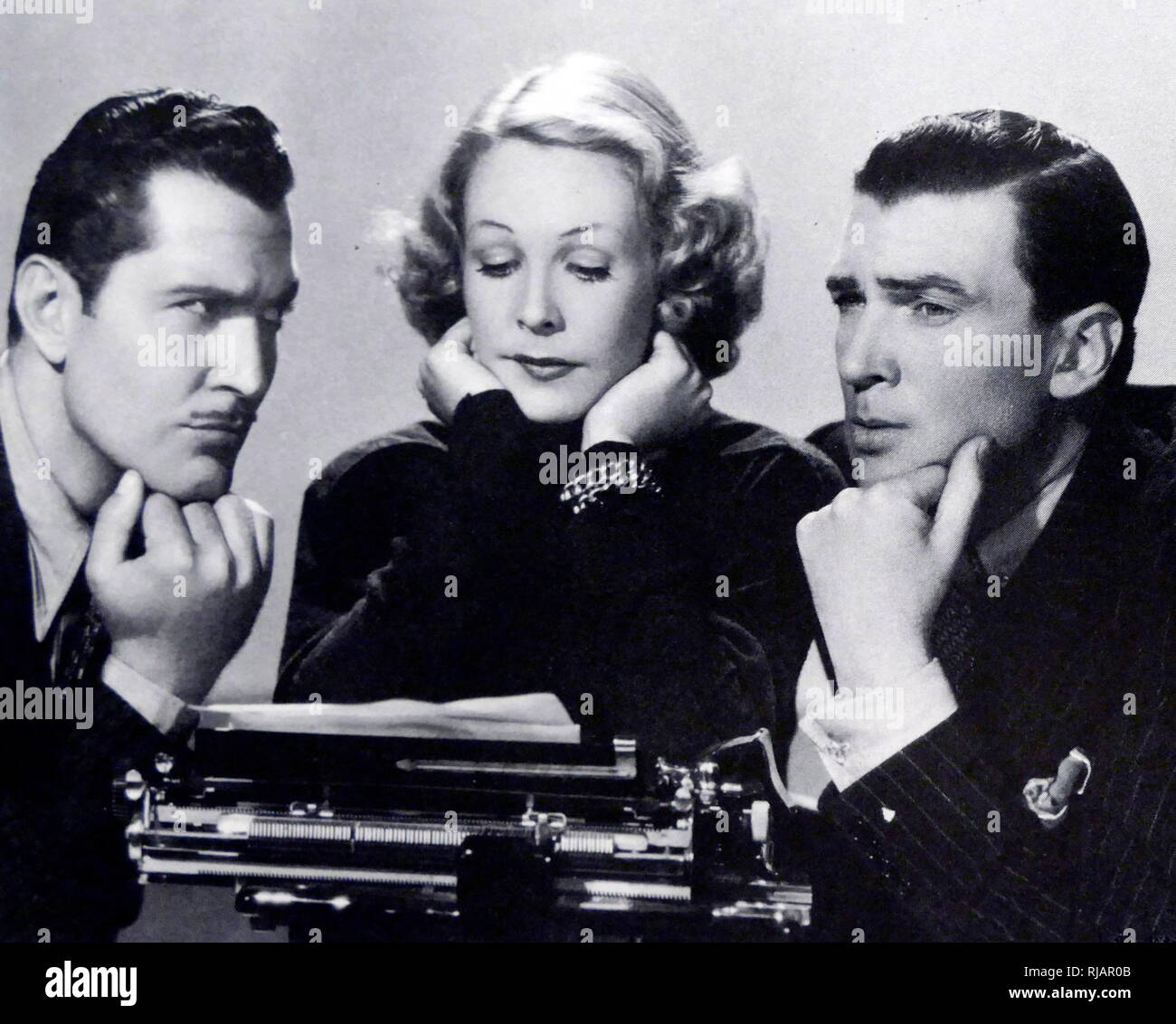A Girl With Ideas is a 1937 American comedy-drama film, directed by S. Sylvan Simon for Universal Pictures. It stars Wendy Barrie, Walter Pidgeon, and Kent Taylor. - Stock Image