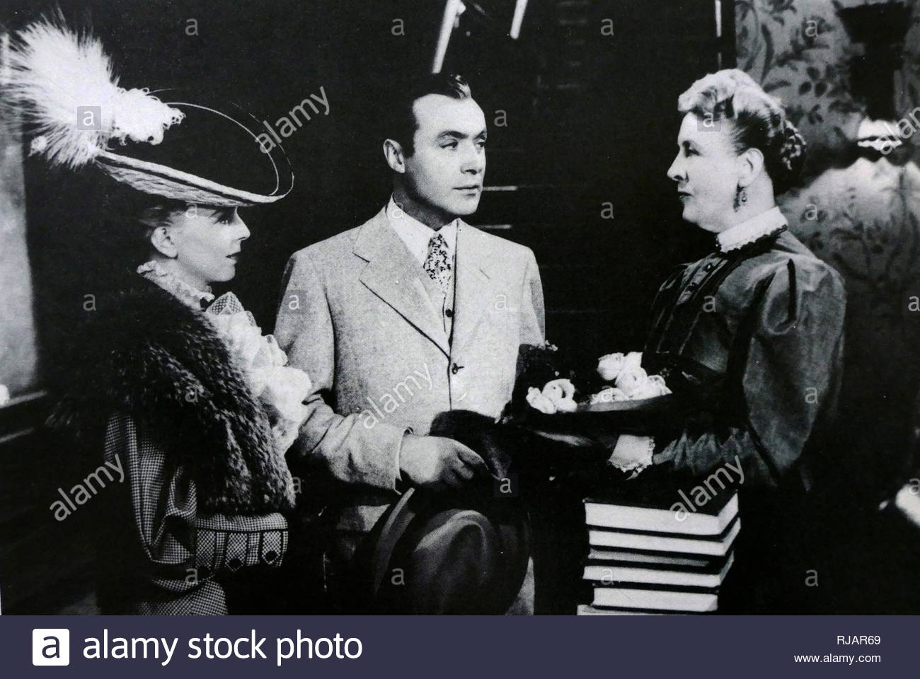 Back Street is a 1941 drama film, directed by Robert Stevenson. The film stars Charles Boyer Centre) and  Margaret Sullavan (Left). The film follows the 1931 Fannie Hurst novel and the 1932 film version very closely, in some cases reproducing the earlier film scene-for-scene. It is a sympathetic tale of an adulterous woman and the man she loved. Charles Boyer (1899 - 1978); a French actor who appeared in more than 80 films. he found his success in American films during the 1930s - Stock Image