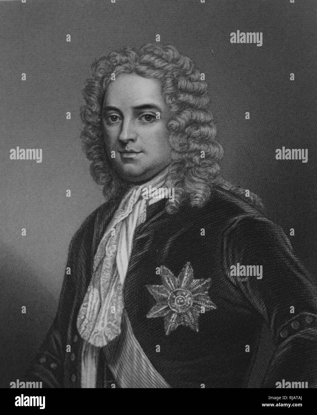 Robert Walpole, (1676 -  1745), British statesman who is generally regarded as the de facto first Prime Minister of Great Britain. holds the record as the longest-serving Prime Minister in British history. - Stock Image