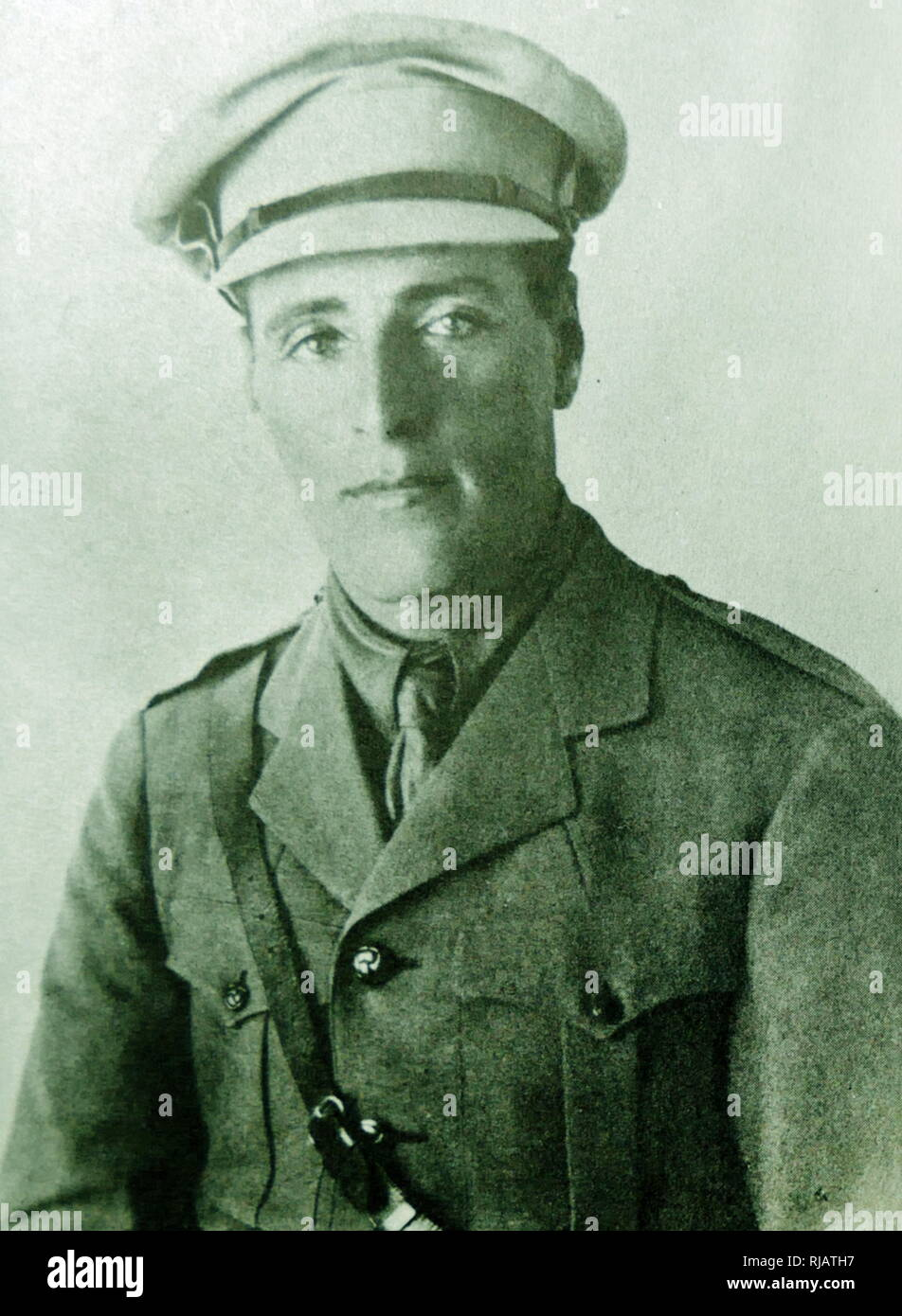 Joseph Trumpeldor formed the 650-strong Zion Mule Corps, of whom 562 were sent to the Gallipoli front in World War One. Joseph Trumpeldor (1880 - 1920)  was an early Zionist activist and war hero. He helped organize the Zion Mule Corps and bring Jewish immigrants to Israel. Trumpeldor died defending the settlement of Tel Hai in 1920 and subsequently became a Zionist national hero. - Stock Image
