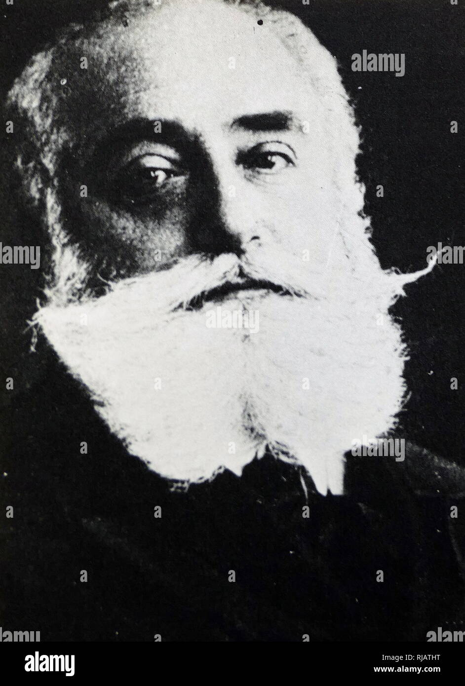 Max Simon Nordau (1849 - 1923), Zionist leader, physician, author, and social critic. co-founder of the World Zionist Organization together with Theodor Herzl - Stock Image