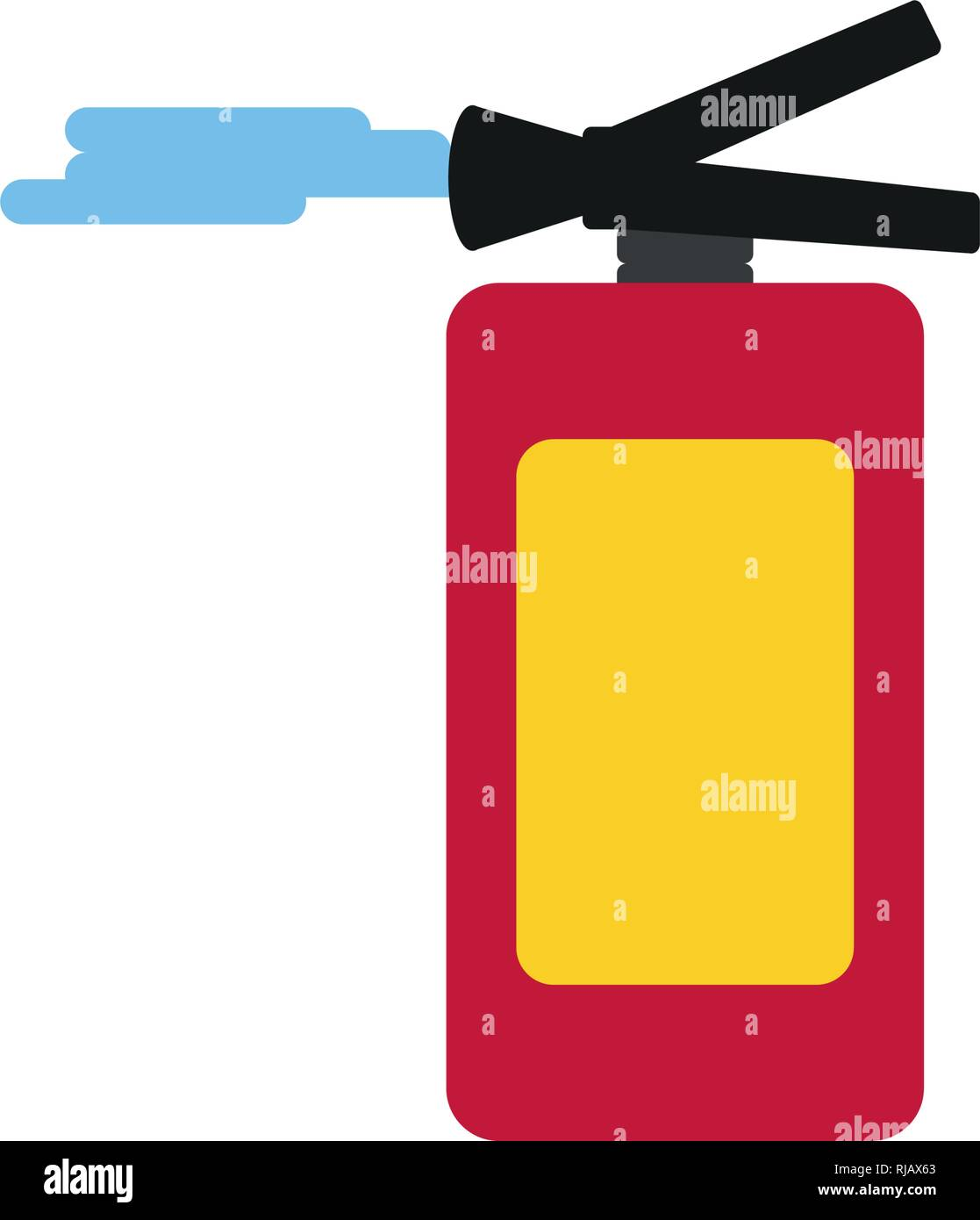 extinguisher fire isolated icon vector illustration design - Stock Image