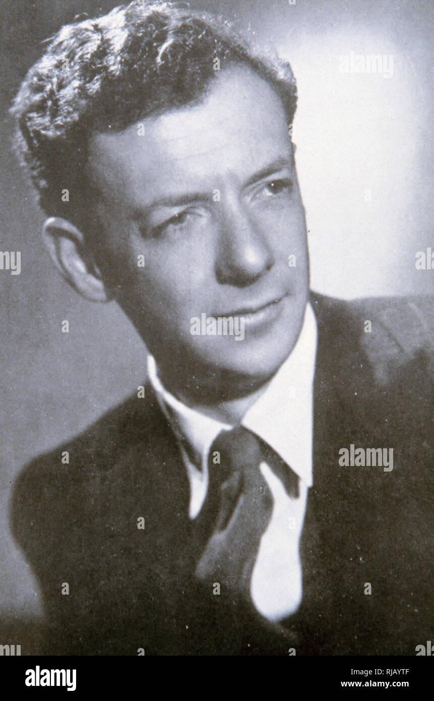Edward Benjamin Britten,  (1913 - 1976), English composer, conductor and pianist. - Stock Image