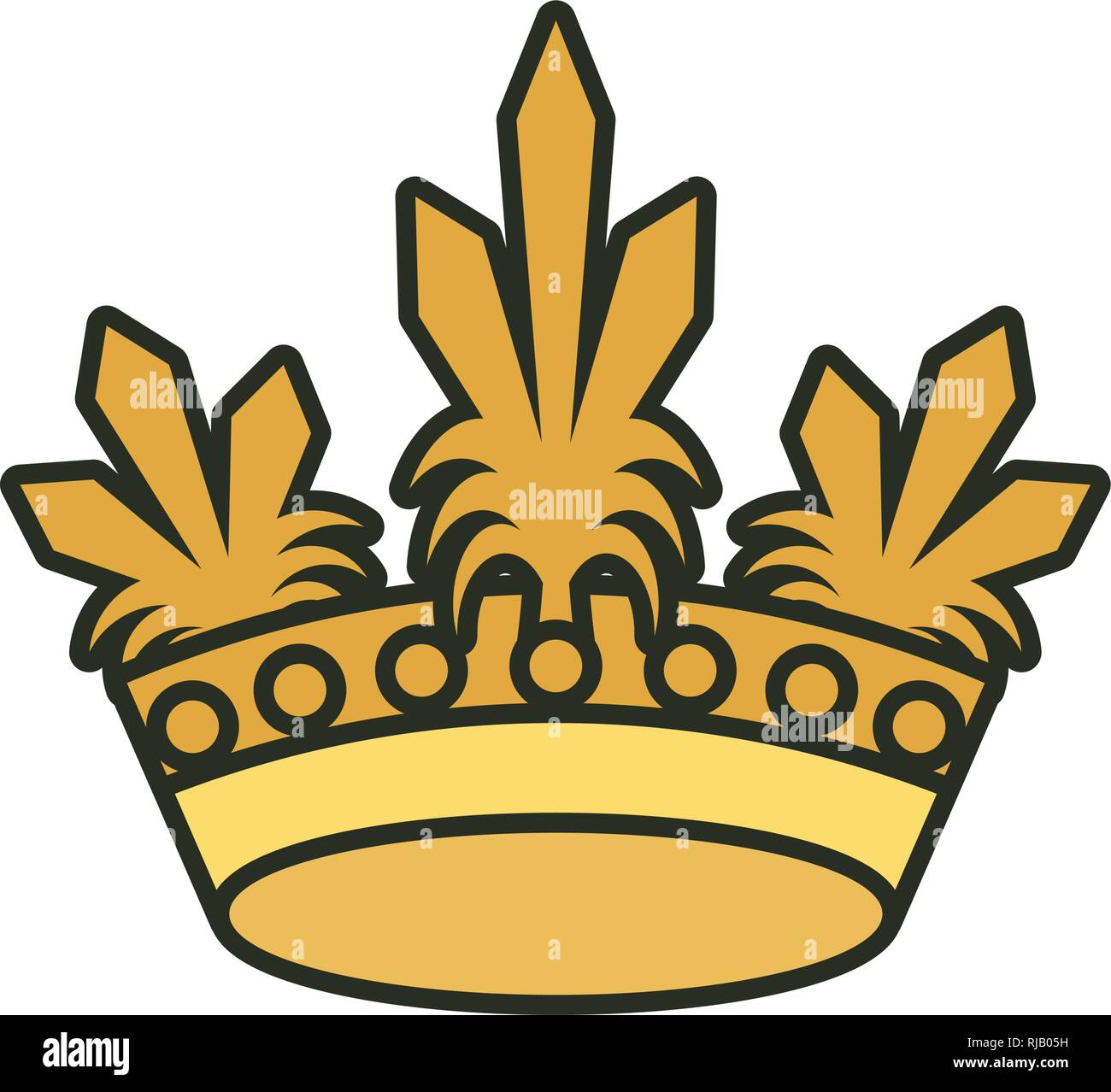 monarchical crown of queen isolated icon vector illustration design - Stock Vector