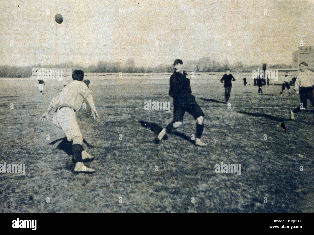 vintage football match, France 1902 - Stock Image