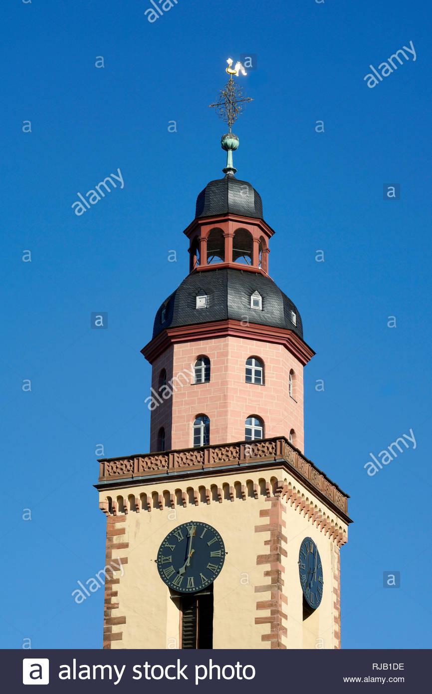 Deutschland, Hessen, Frankfurt am Main, Stadtmitte,  an der Hauptwache,  Katharinenkirche, Kirchturm - Stock Image