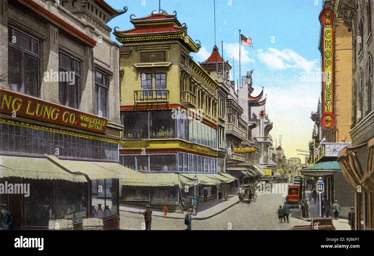 San Francisco, California, USA - Street Scene in Chinatown Stock Photo
