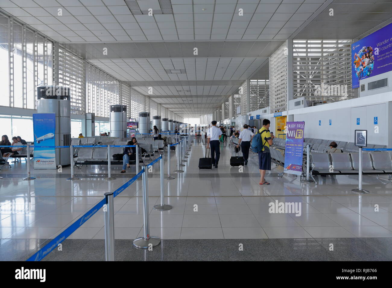 Manila / Philippines - A view from the passenger lounge of Ninoy Aquino International Airport in Manila, Philippines. - Stock Image