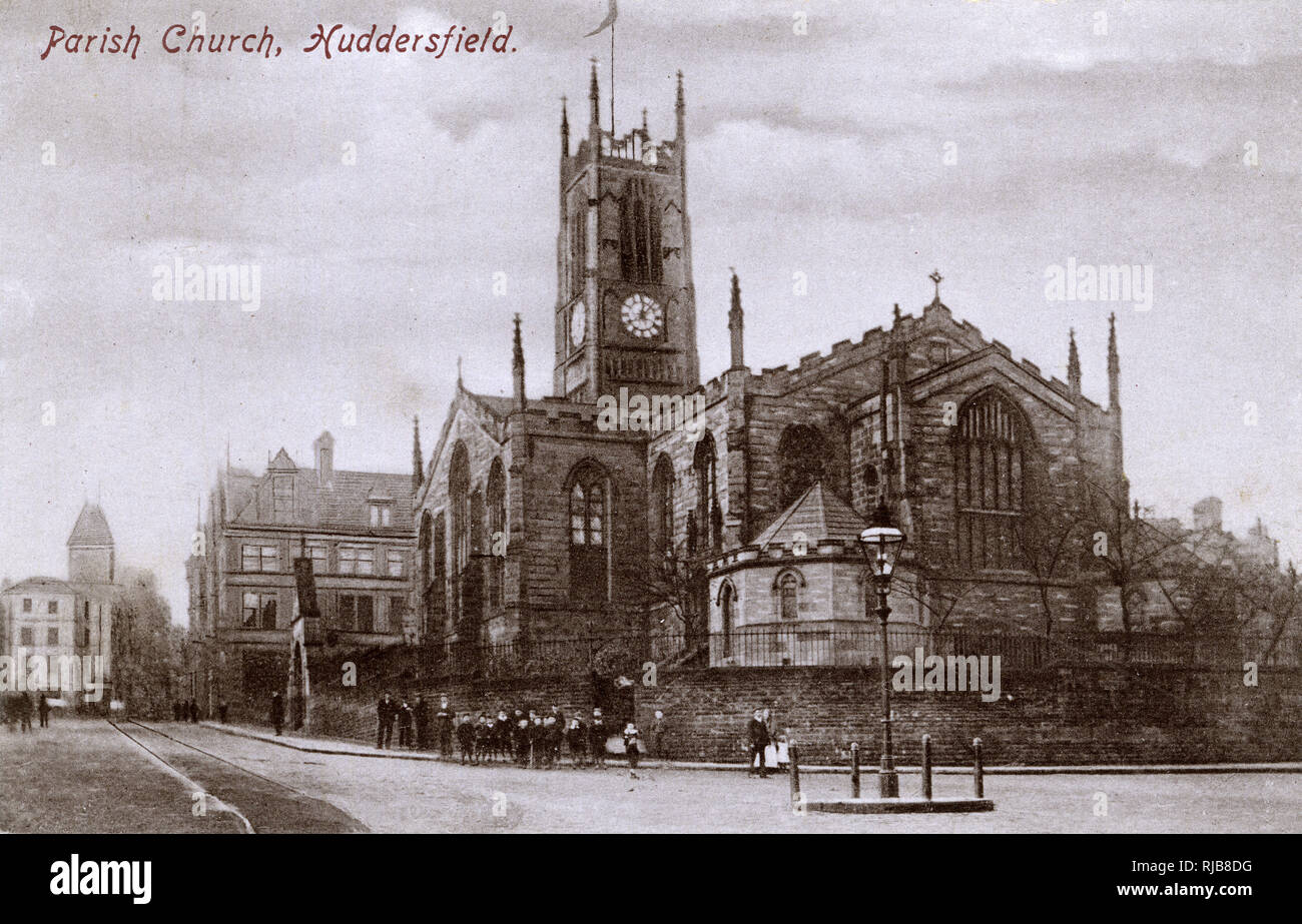 St Peter's Church, Kirkgate, Huddersfield, West Yorkshire. Stock Photo