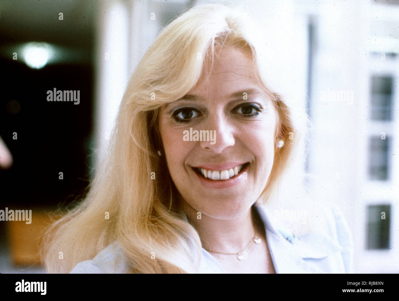 Julie Goodyear, MBE (1942-) - English television actress and media personality, best known for playing pub landlady Bet Lynch in the long-running British soap opera Coronation Street. - Stock Image