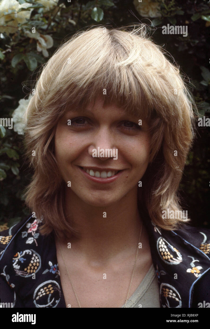 Julie May Peasgood (1956-) - English actress, television presenter, author and voice-over artist. - Stock Image