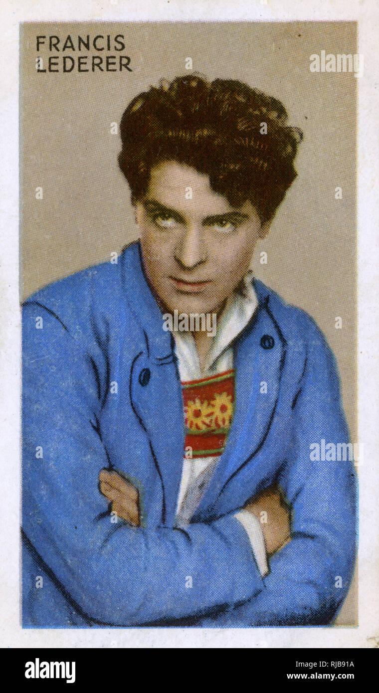 Francis Lederer, Czech film actor. Stock Photo