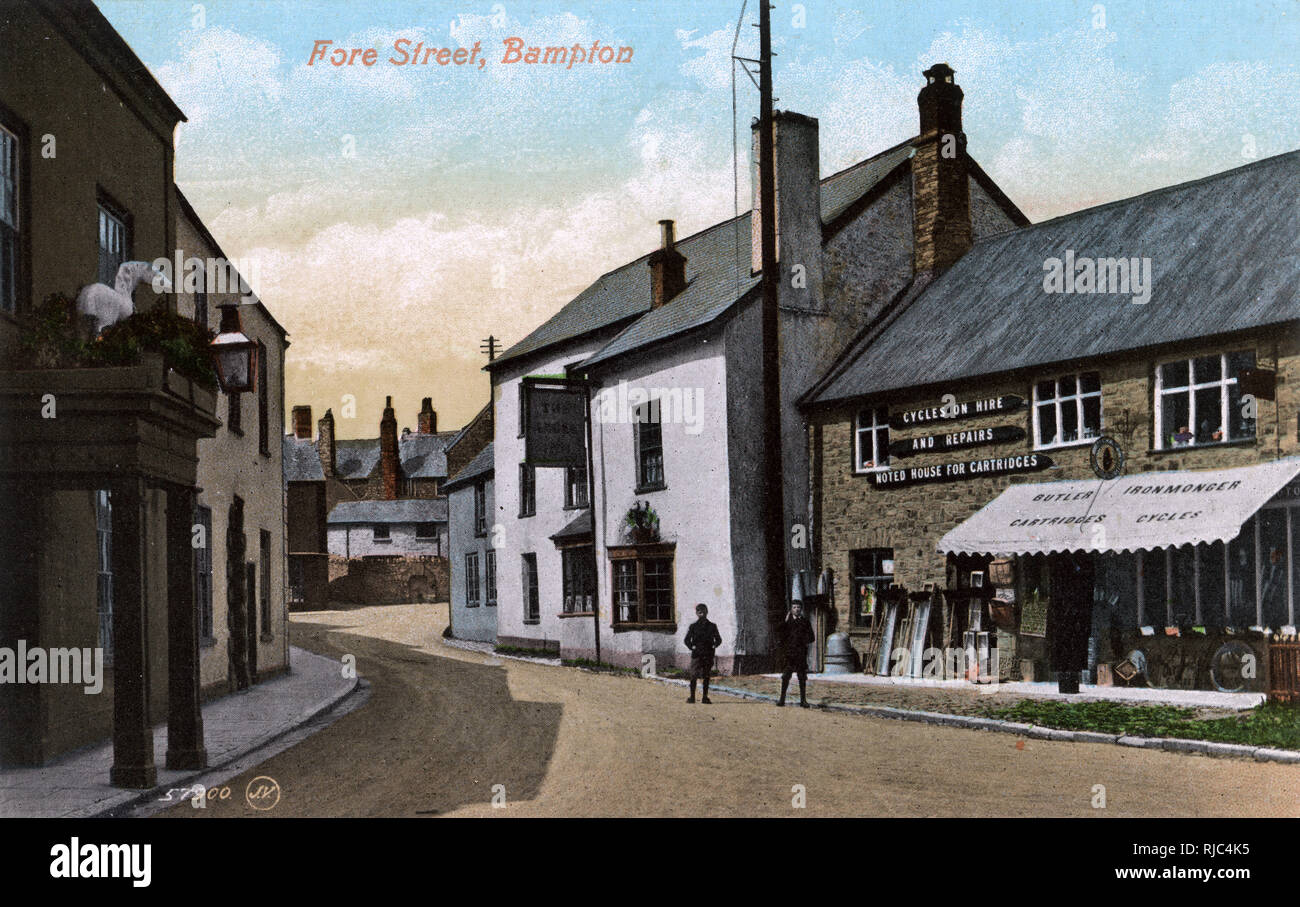 Bampton, Devon - Fore Street. Stock Photo