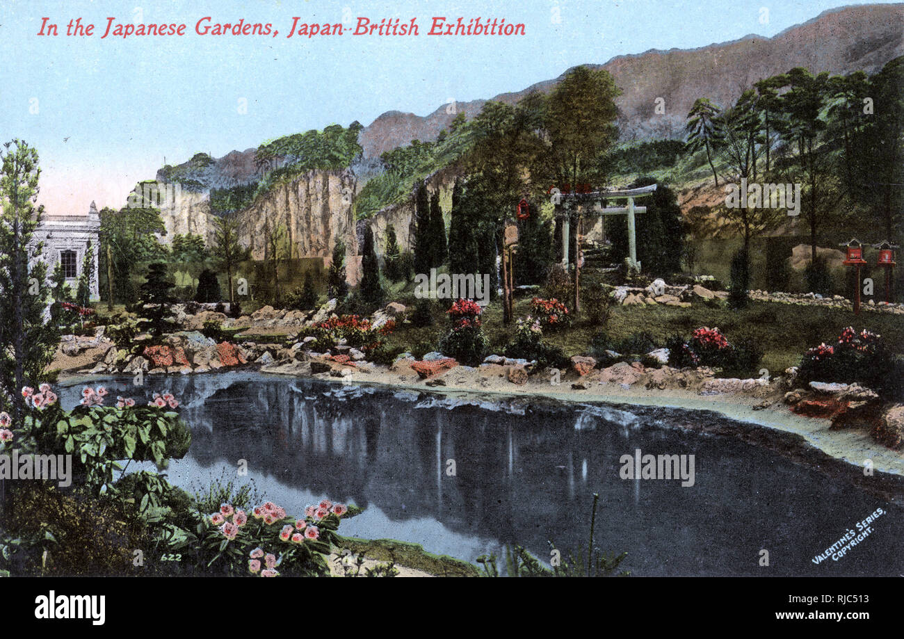 The Japanese Gardens The Japan British Exhibition Of 1910 Took