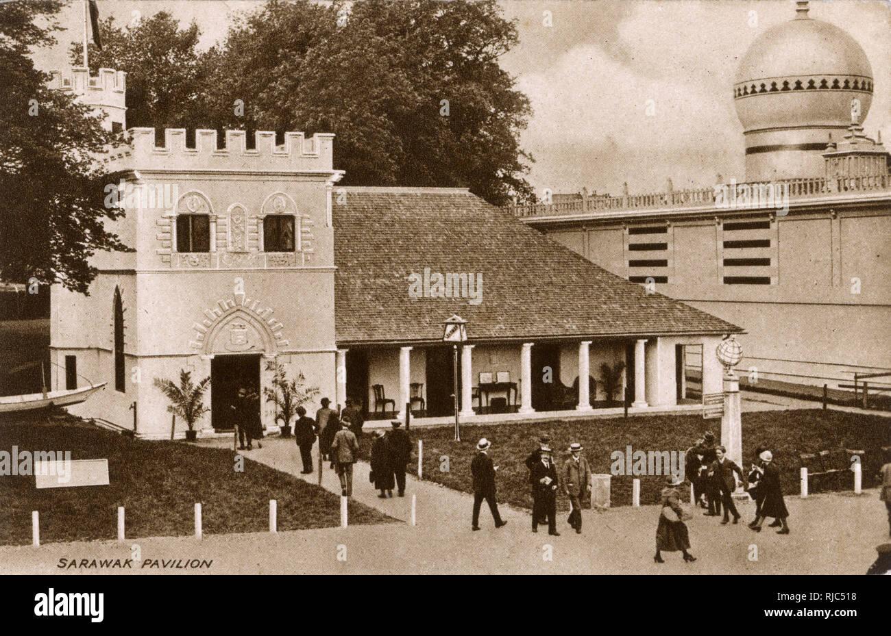British Empire Exhibition - Wembley - Sarawak (Malaysia) Pavilion. - Stock Image