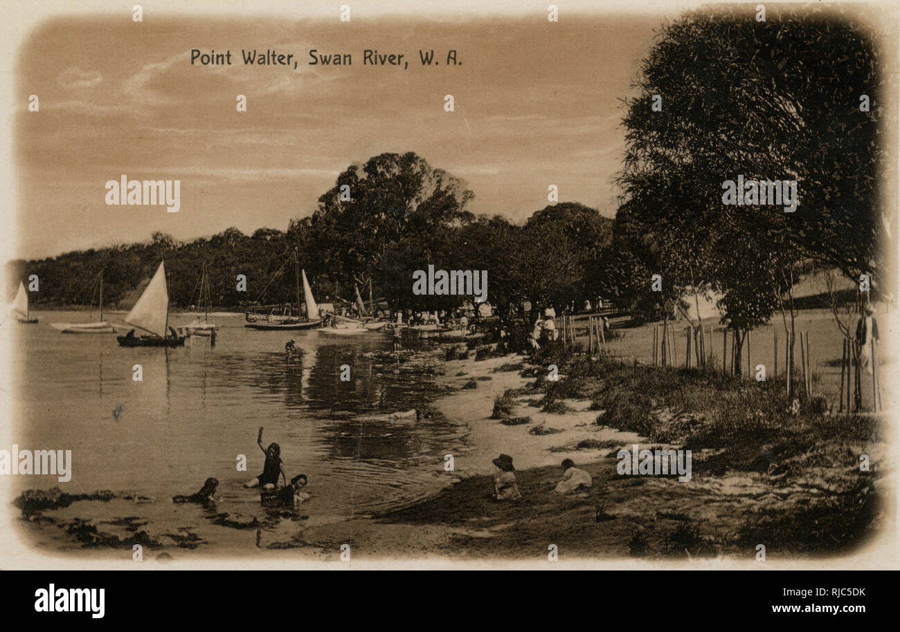 Point Water, Swan River, Western Australia. - Stock Image