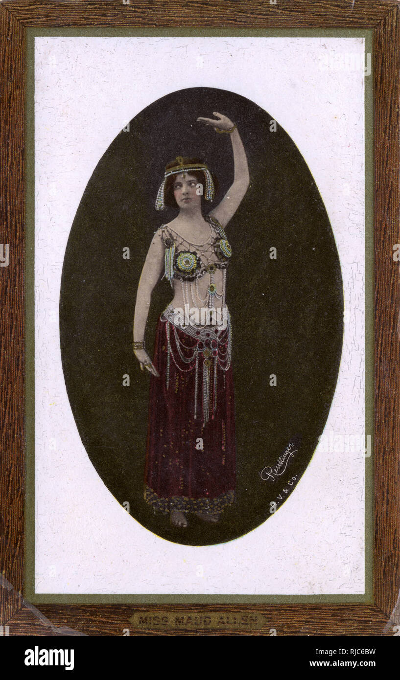 Miss Maud Allen (1873-1956) - pianist-turned-actress, dancer and choreographer, in the role of Salome in her production the Vision of Salome. - Stock Image