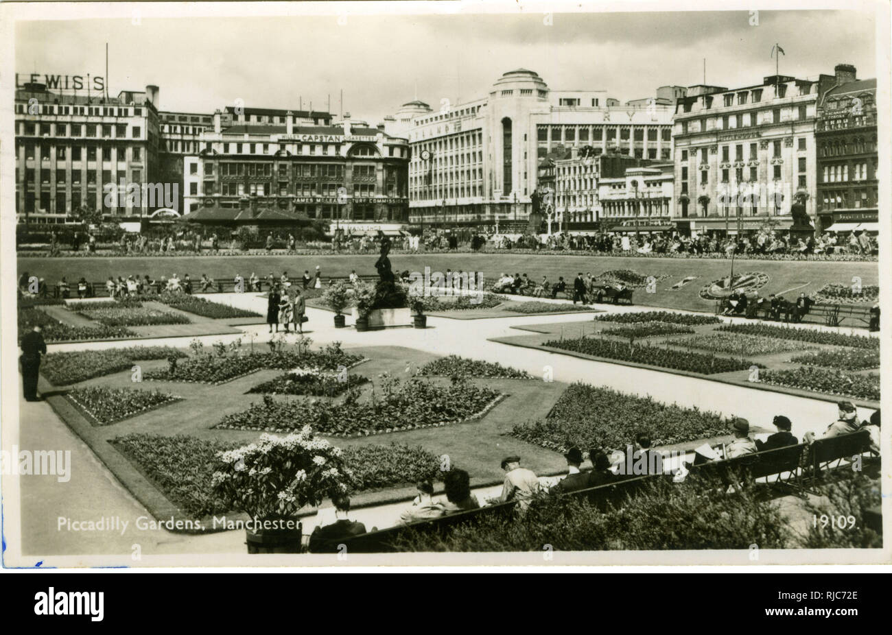Piccadilly Gardens, Manchester. Stock Photo