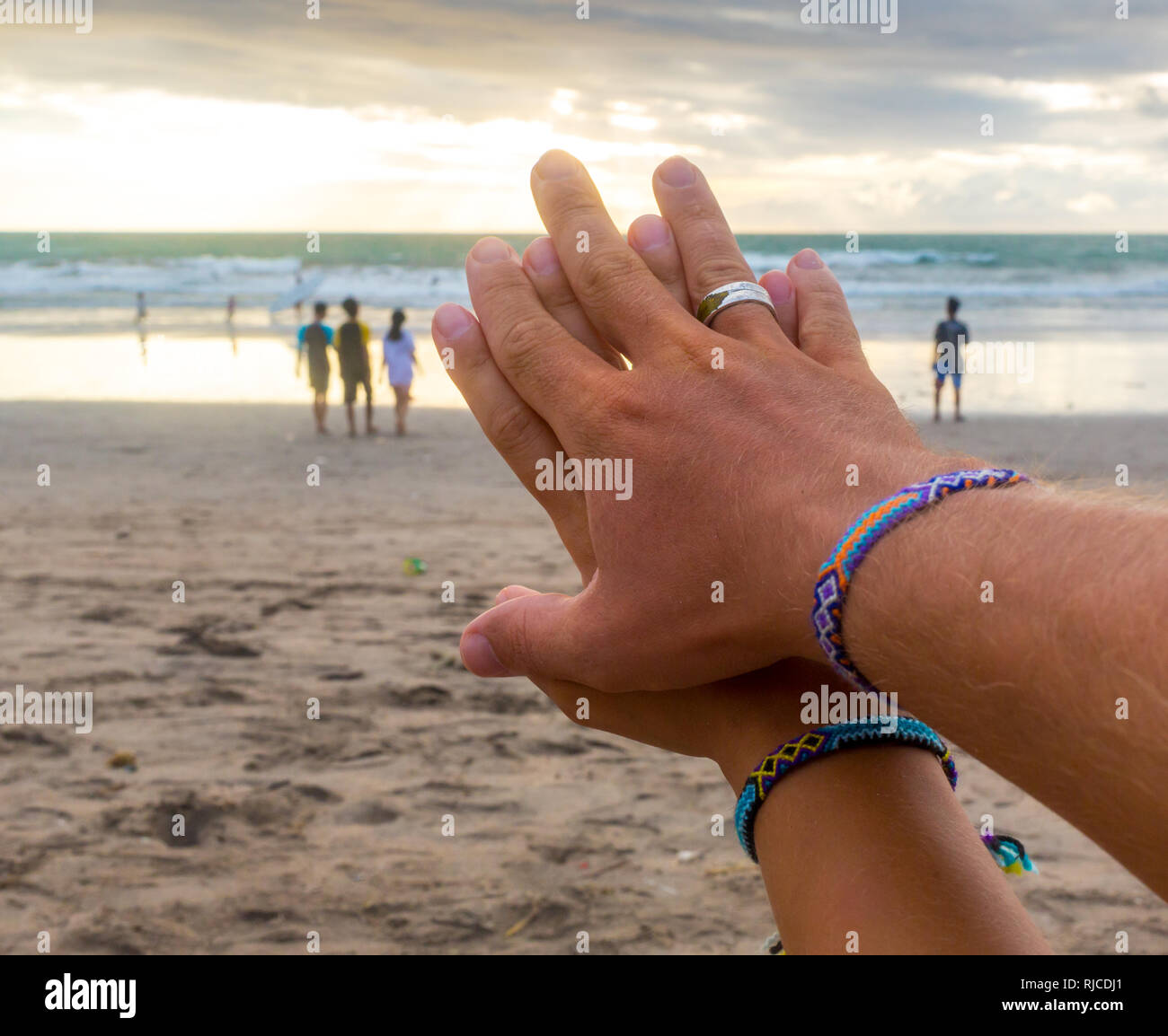 It is just a photo of Cruise travel honeymoon married couple. Newlyweds woman and man
