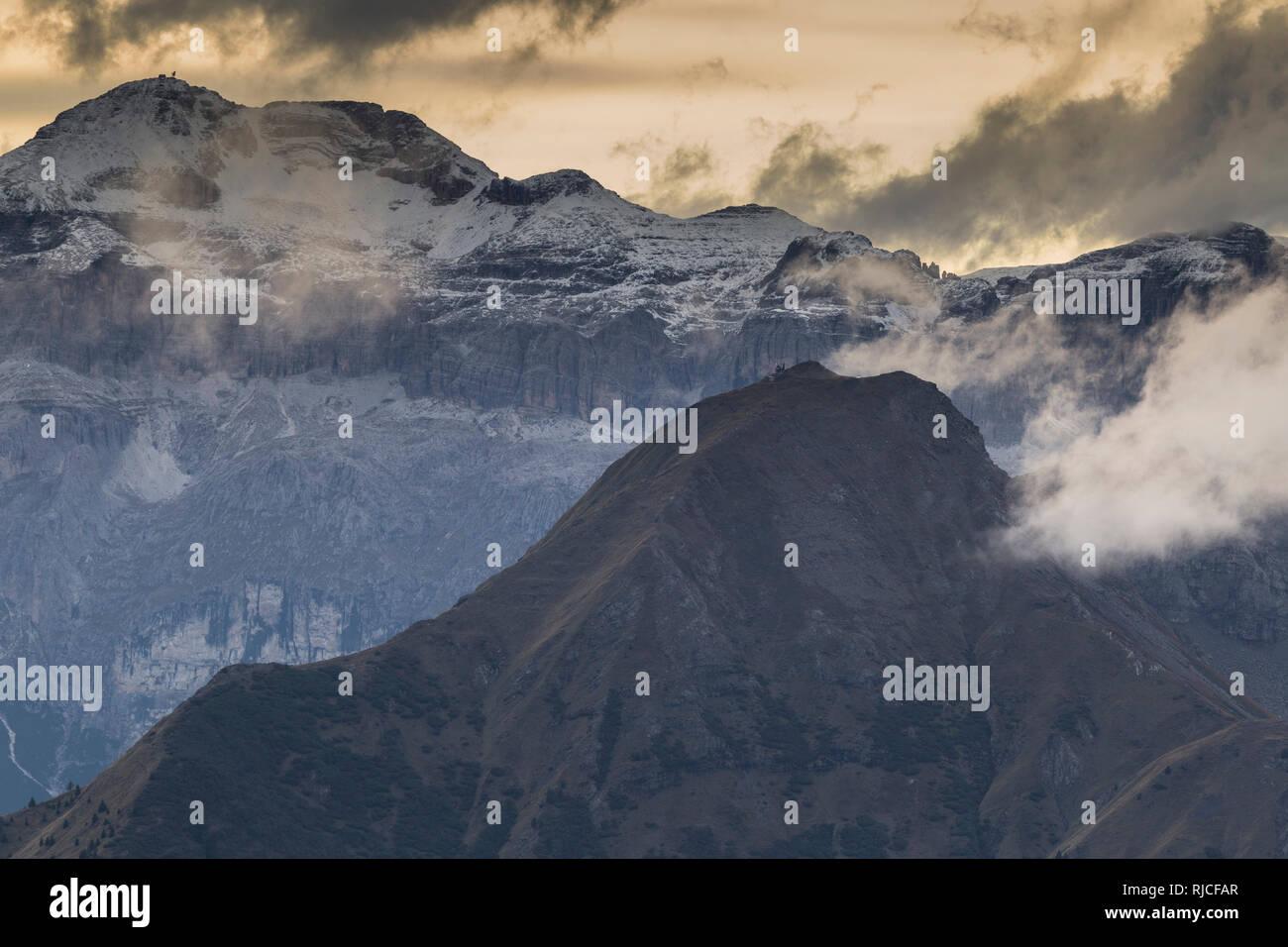 Europe, Italy, Alps, Dolomites, Mountains, Veneto, Belluno, Giau Pass Stock Photo