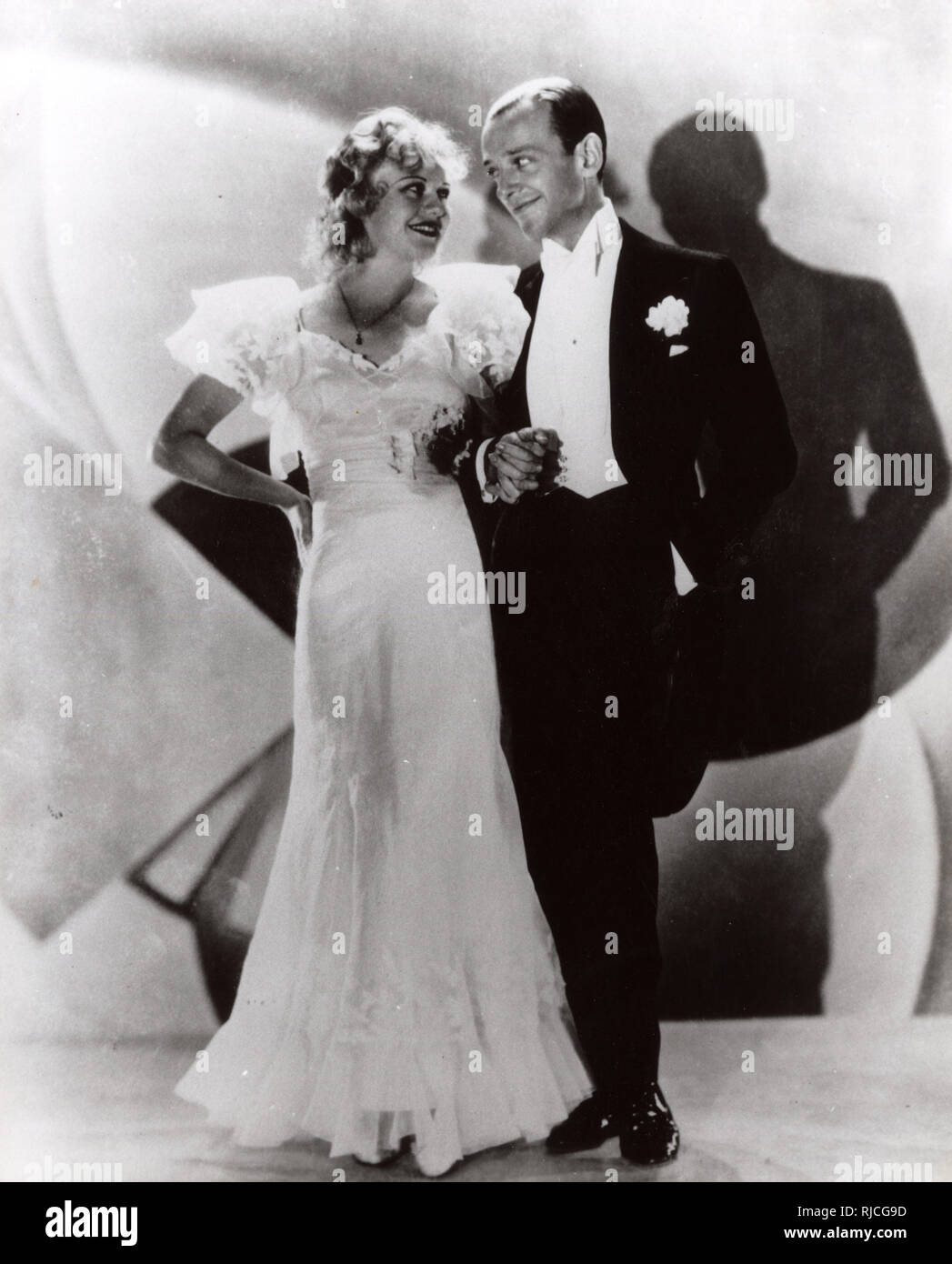 Cinema and Dance legends Fred Astaire (1899-1987) and Ginger Rogers (1911-1995) in 'Flying Down to Rio' (1933) Stock Photo