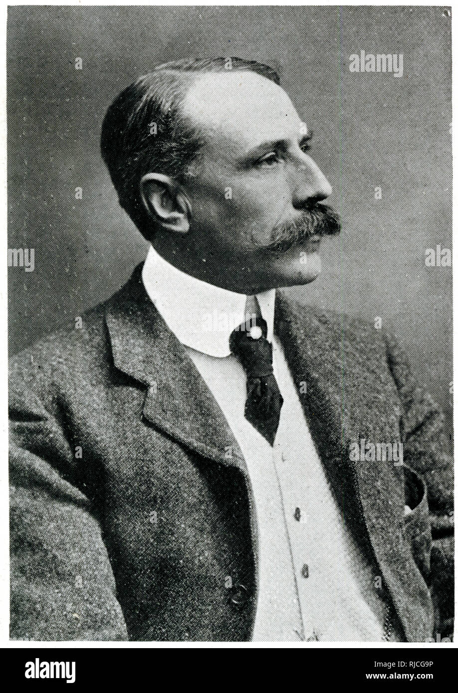 Sir Edward Elgar (1857-1934), English composer at the time of the performance of his oratorio 'The Dream of Gerontius' at the Worcester Music Festival. Stock Photo