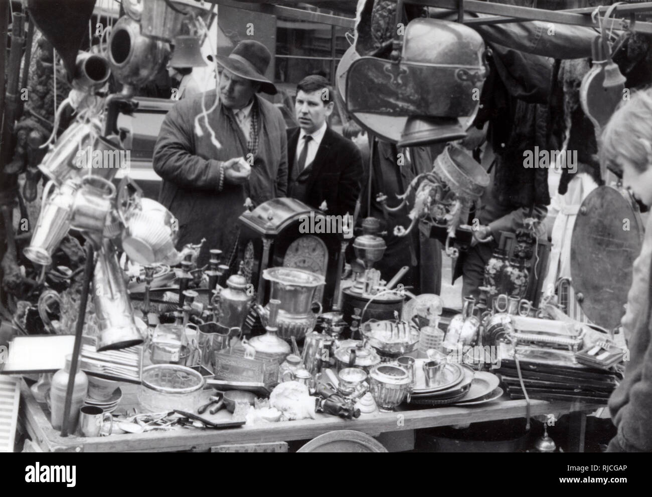 Portobello Road Market - Bric a Brac Stall. Stock Photo