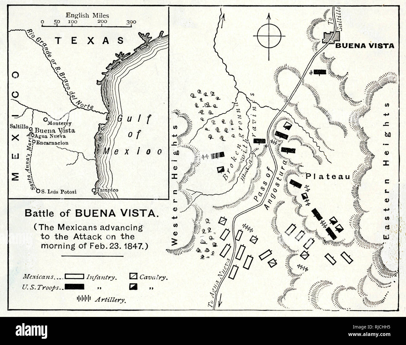 A Map Of The Formations And Placements Of Troops And Defences Of The
