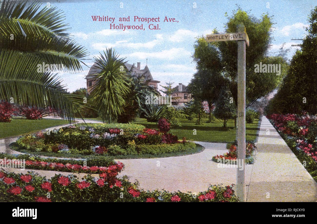 Whitley and Prospect Avenue, Hollywood, California, USA. Stock Photo