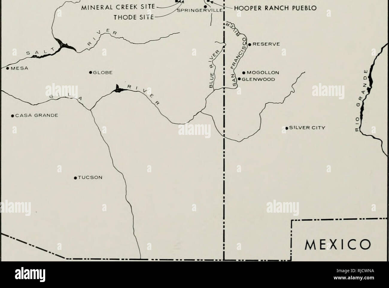 Map Of Eastern Arizona.Chapters In The Prehistory Of Eastern Arizona Indians Of North