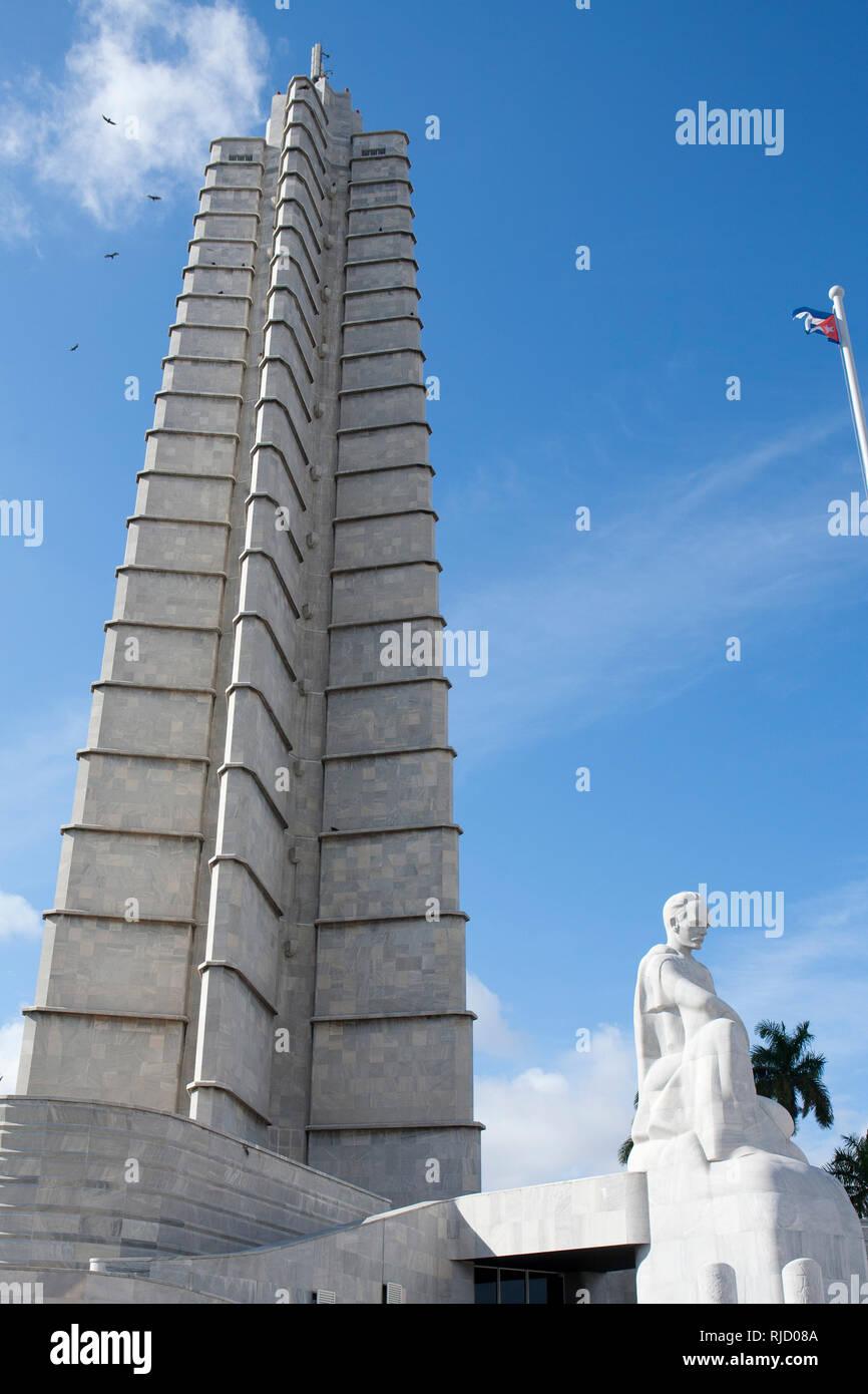Revolution plaza, Havana Cuba - Stock Image