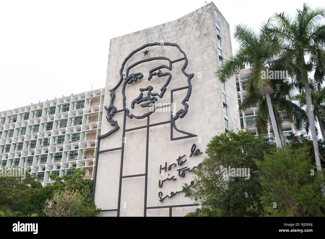Plaza de la Revolución Revolution in Havana Cuba - Stock Image