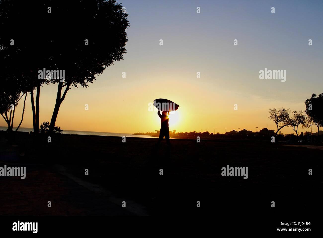 kuwait sunrise - Stock Image