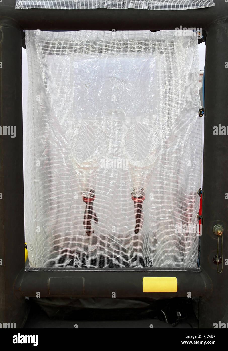 Emergency situations equipment Bio hazard wash station - Stock Image