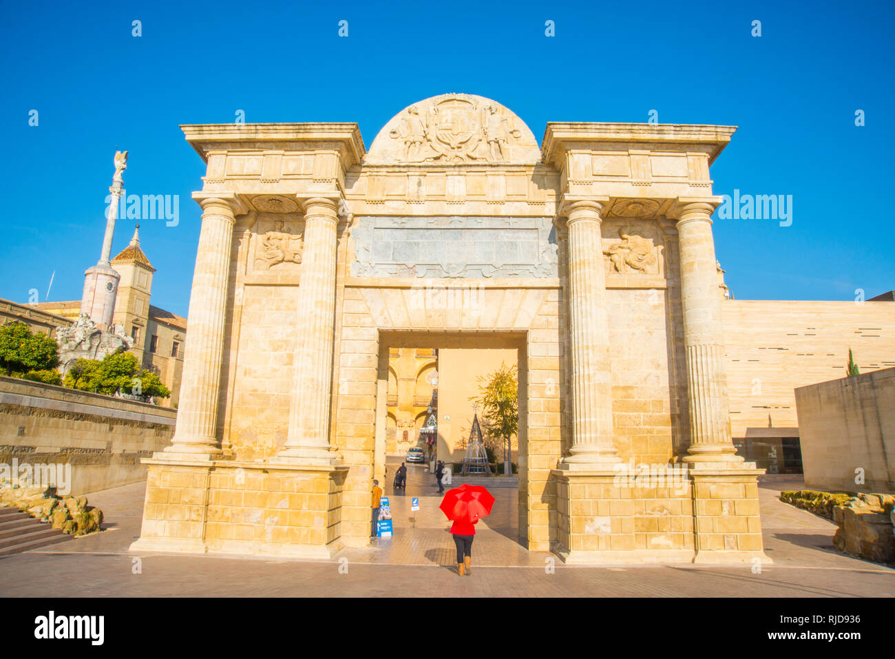 Puerta del Puente. Cordoba, Spain. - Stock Image