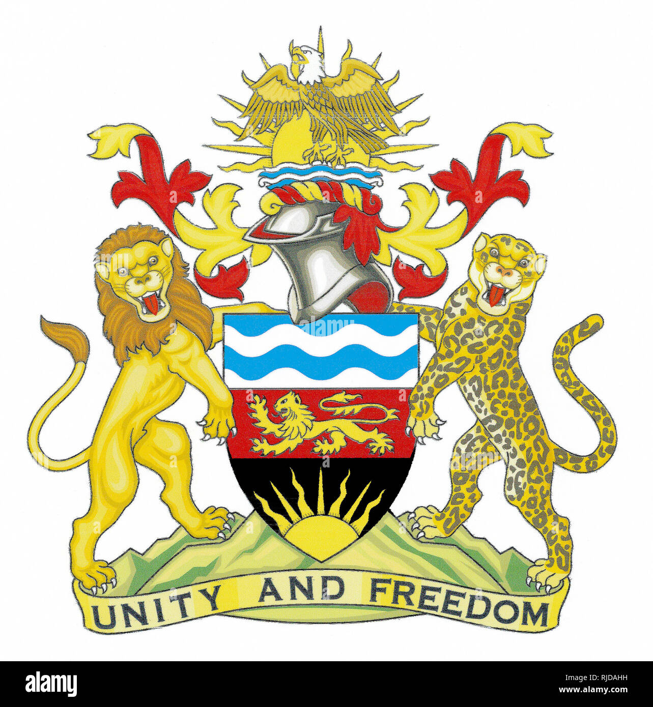 National coat of arms of the Republic of Malawi. - Stock Image